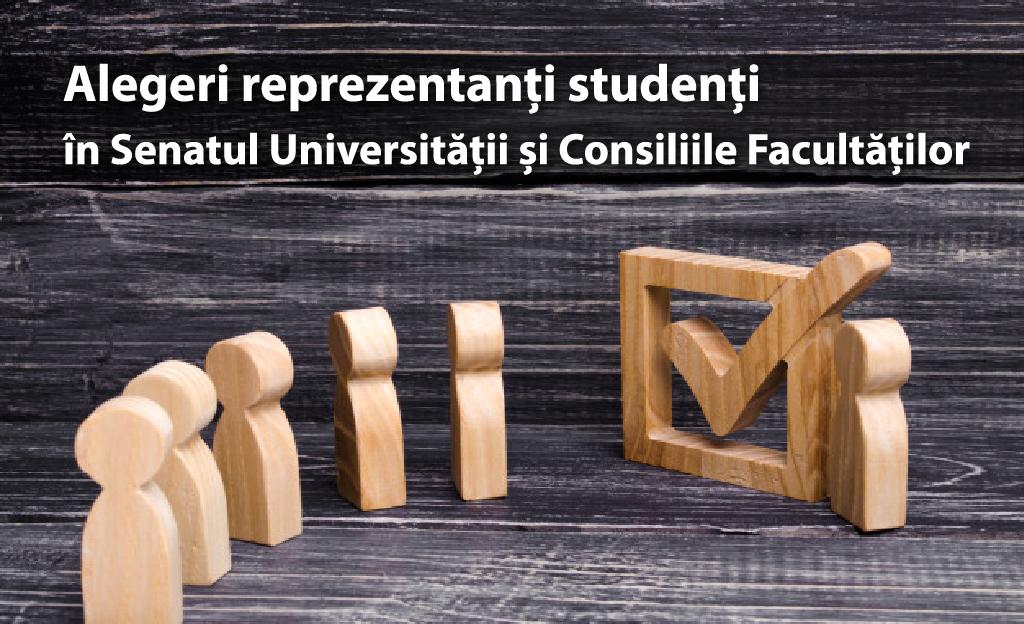 Alegeri pentru reprezentanții studenților în Senatul Universității și Consiliile Facultăților – depunerea candidaturilor până pe 14 martie