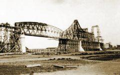 Podul lui Saligny in lucru