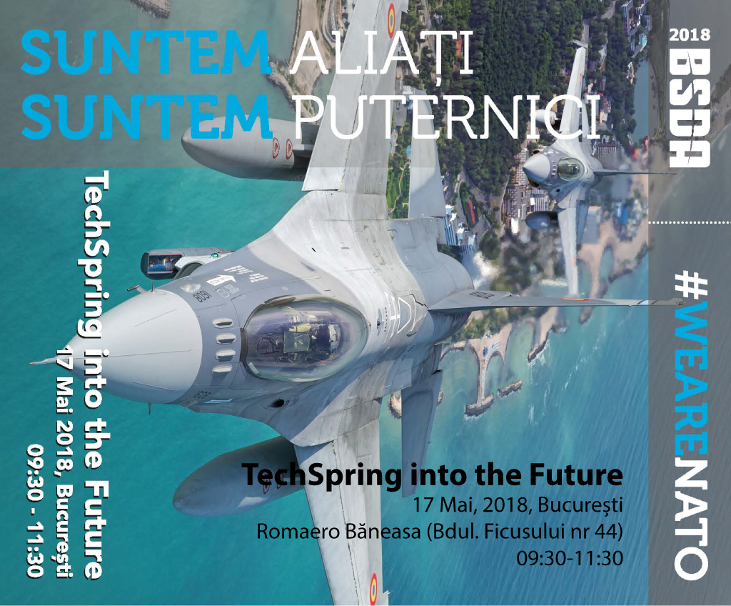 """Studenții UPB sunt invitați să participe, joi 17 mai, începând cu ora 9:30, la Conferința """"TechSpring into the Future"""""""