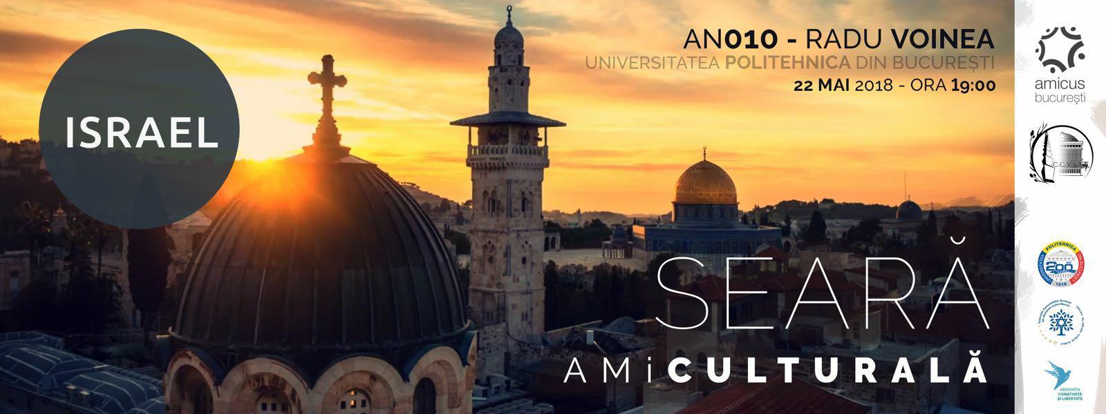 UPB a găzduit marți, 22 mai, un eveniment cultural – Seara AMiCulturală – Israel