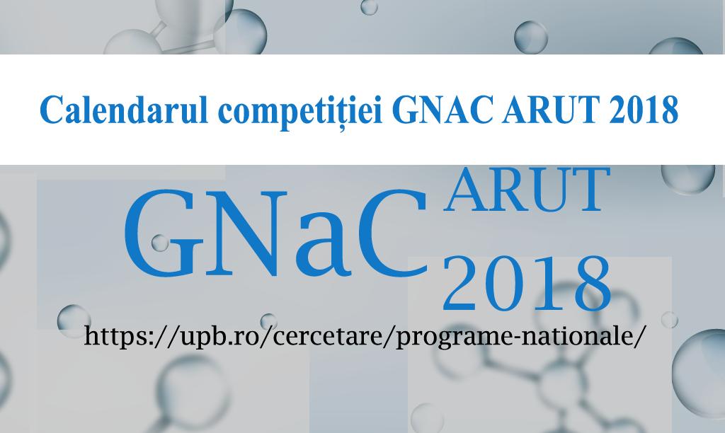 Anunț – Lista proiectelor depuse la UPB in cadrul competiției naționale GNaC ARUT 2018