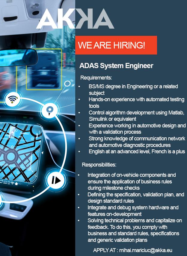 ADAS System Engineer