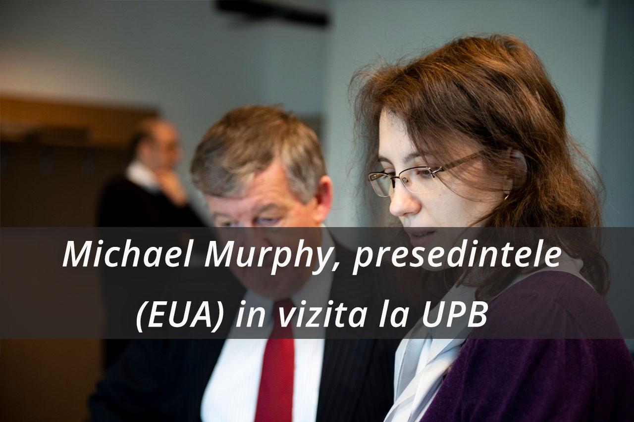 Presedintele EUA in vizita la UPB