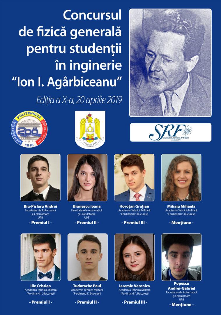 Laureatii Ion I. Agarbiceanu din 20 aprilie 2019