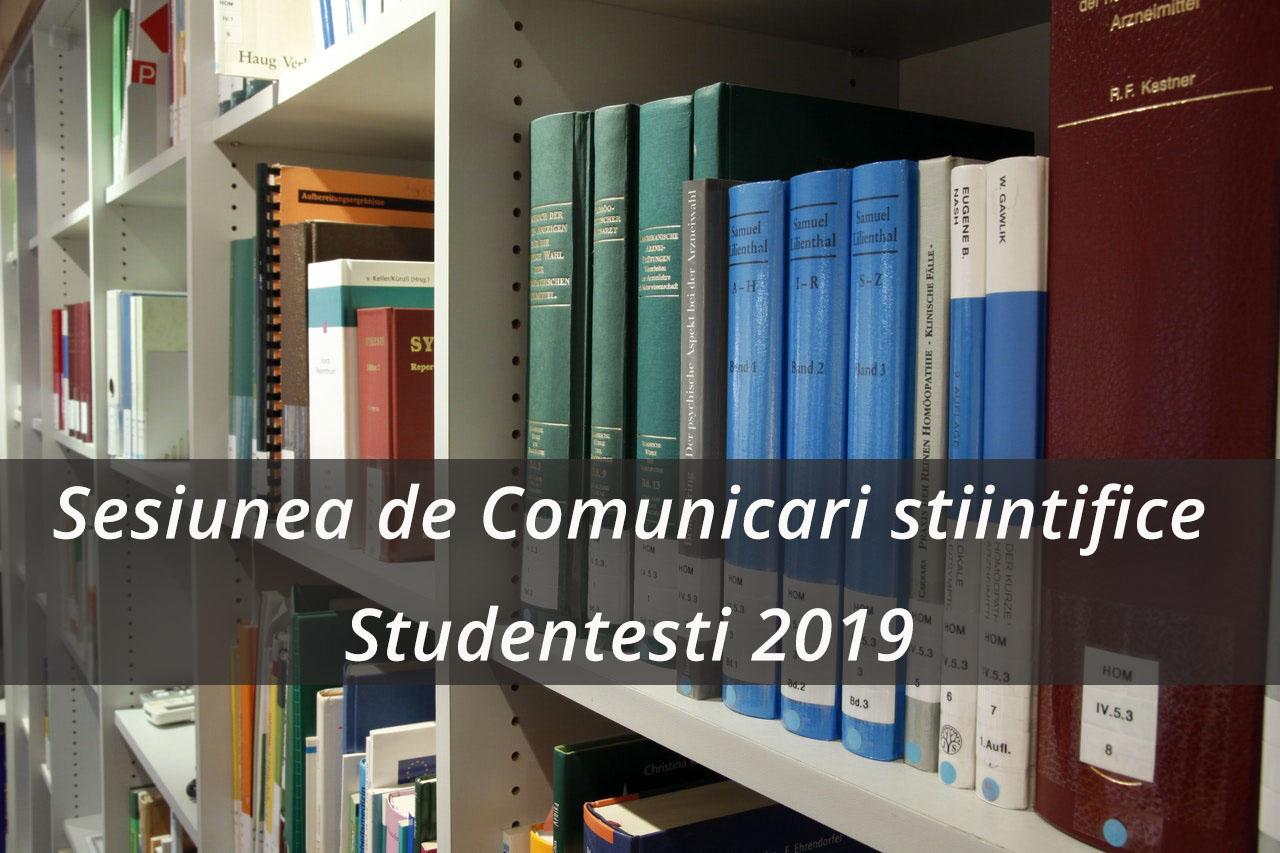 Sesiunea de Comunicari Stiintifice Studentesti 2019