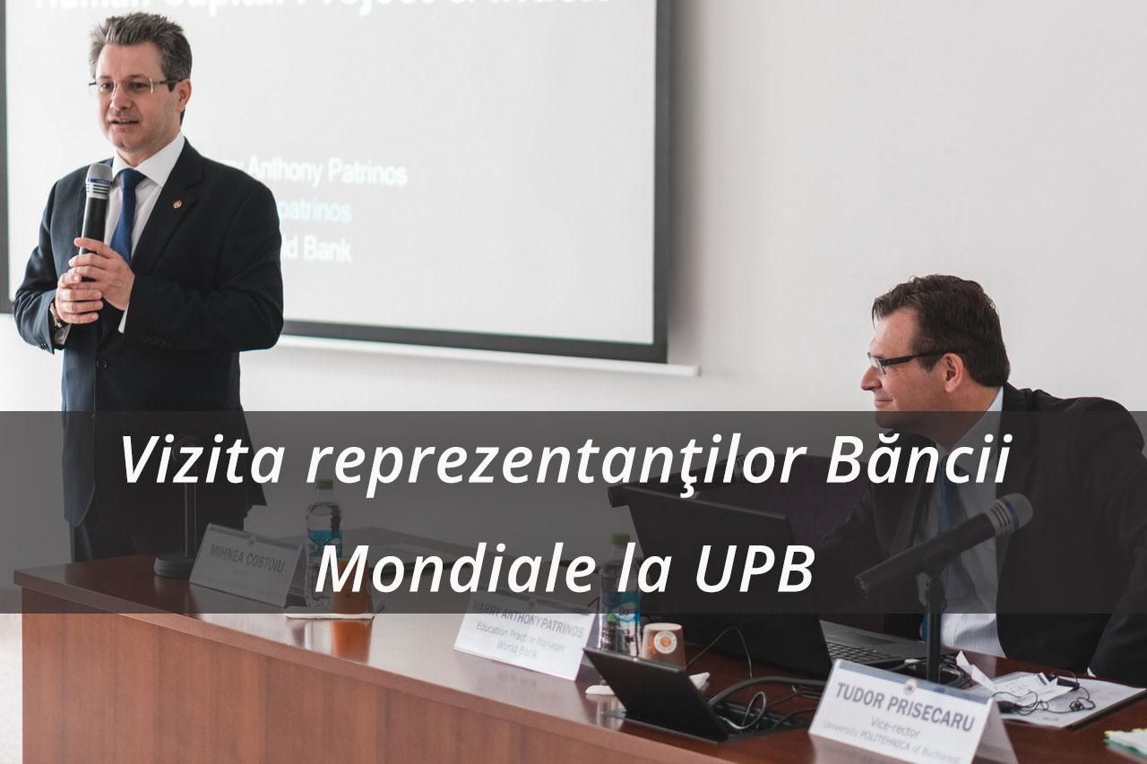 Vizita reprezentanților Băncii Mondiale, condusă de Harry Anthony Patrinos, Practice Manager în domeniul Educației pentru Europa și Asia Centrală