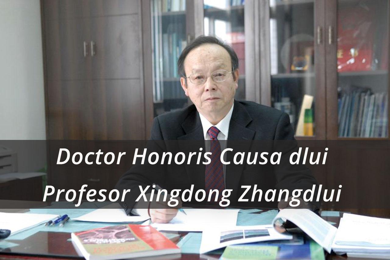 UPB va acorda astăzi Titlul Academic de Doctor Honoris Causa dlui Profesor Xingdong Zhang