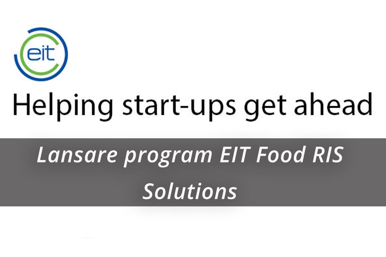 Lansarea programului EIT Food RIS Solutions