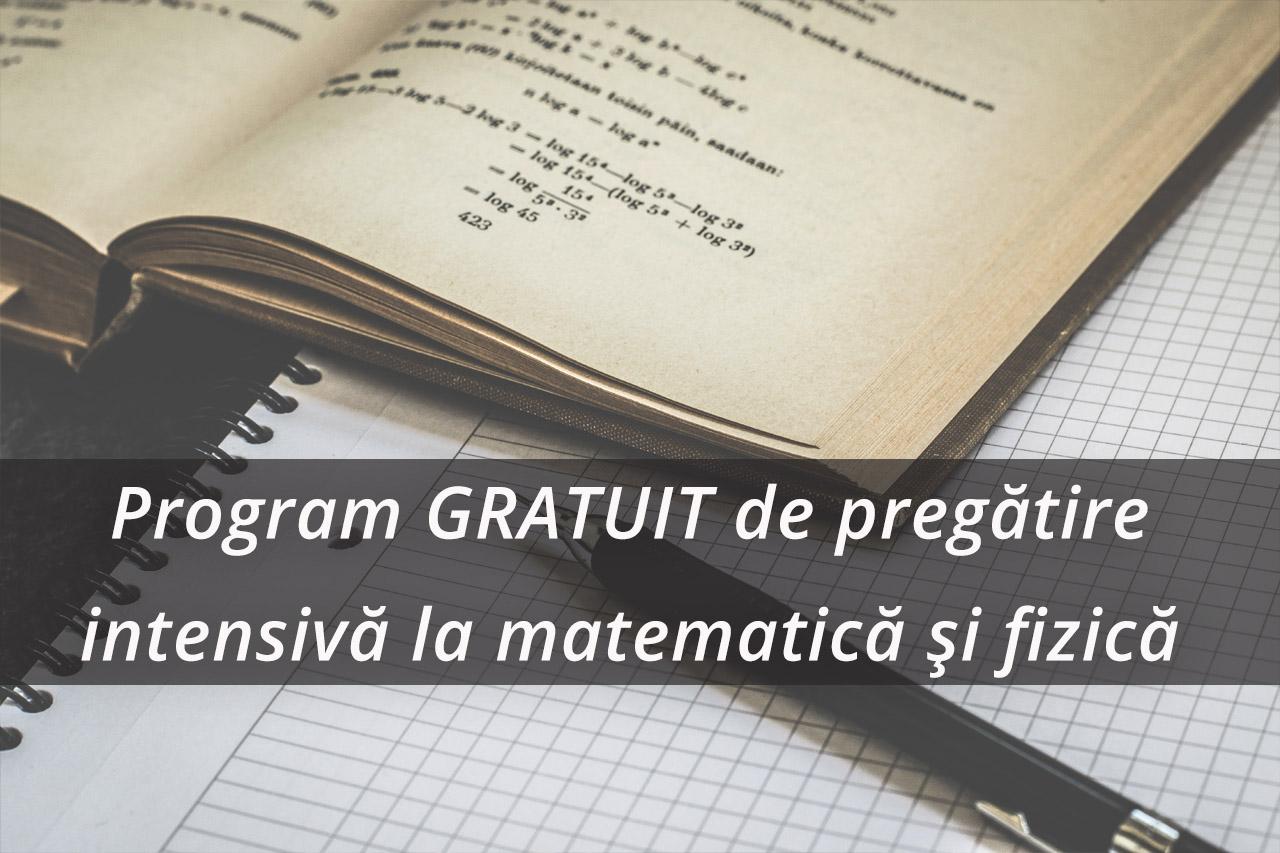 UPB va organiza un program GRATUIT de pregătire intensivă și cazare pentru admitere licență 2019, la matematică și fizică.