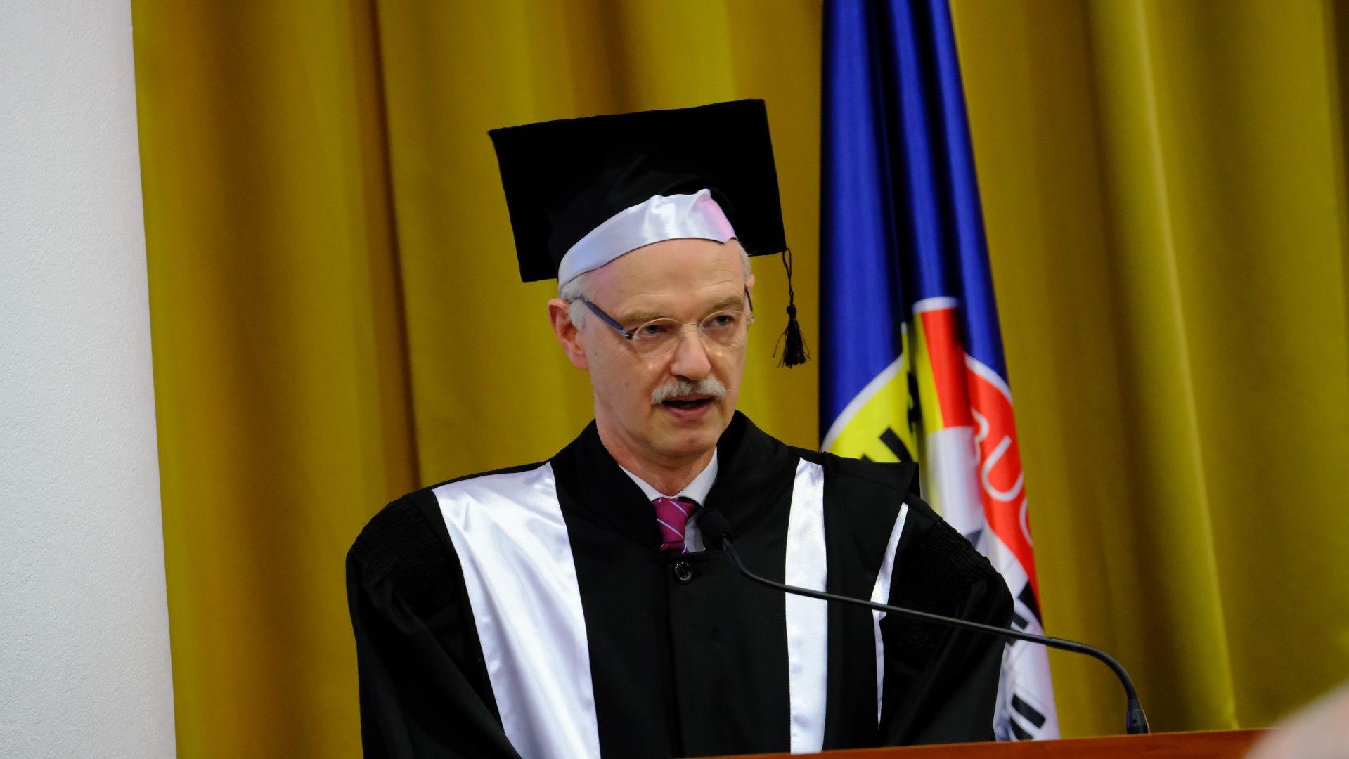 UPB a acordat titlul academic Doctor Honoris Causa domnului profesor dr. Hans Jürgen Prömel