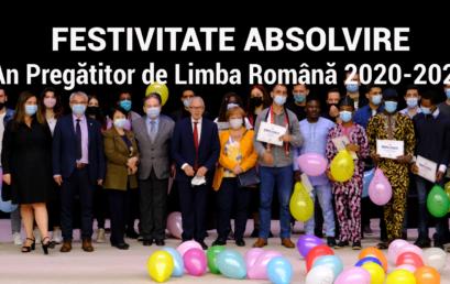 Festivitate de Absolvire pentru studenții Anului Pregătitor de Limba Română 2020-2021