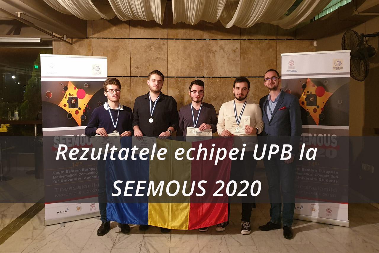 Rezultatele echipei UPB la SEEMOUS 2020