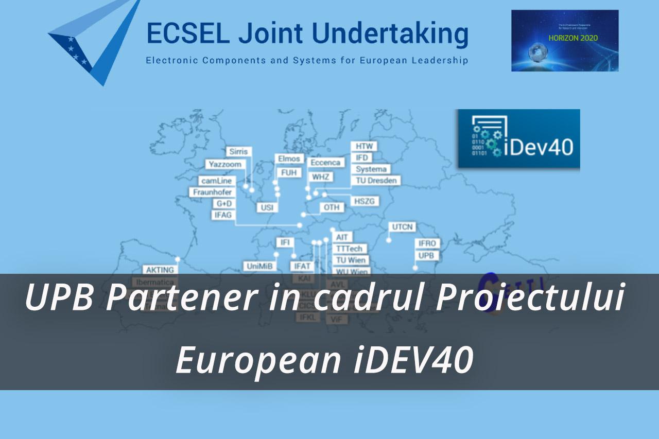 UPB, partener in cadrul Proiectului European iDEV40