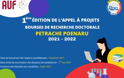 """UPB LANSEAZĂ APELUL PENTRU PROGRAMUL DE BURSE DOCTORALE """"PETRACHE POENARU"""""""
