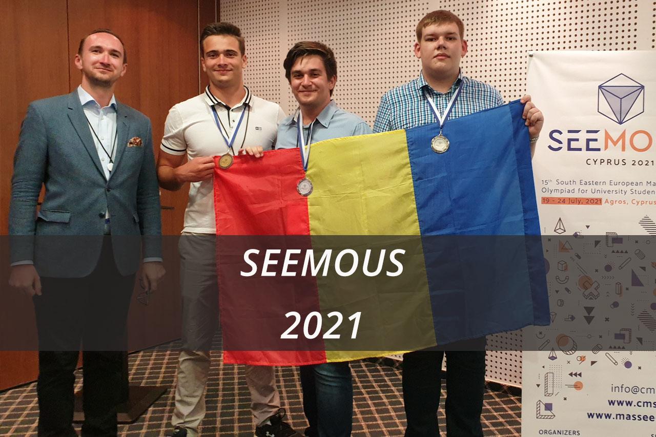 Succes al studentilor UPB la Olimpiada Internationala de Matematica pentru Studenti – SEEMOUS2021